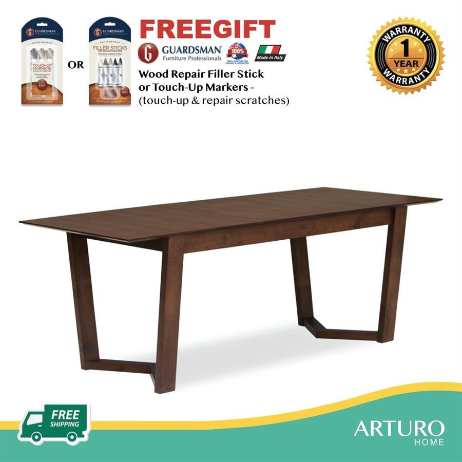Arturo Vitas Extendable Dining Table 1 6m Extendable 0 4m Rectangle Table Free Shipping To West Malaysia Building Materials Online