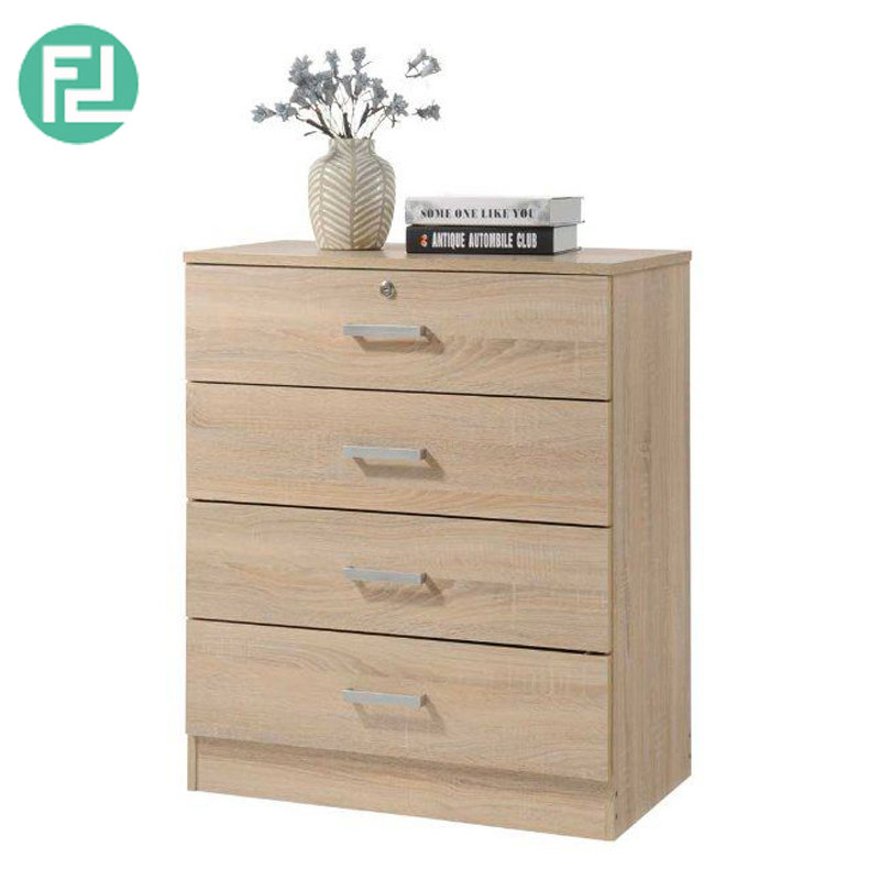 Bardon 4 Drawer Chest Of Drawers With Key Lock Sonoma Oak Building Materials Online