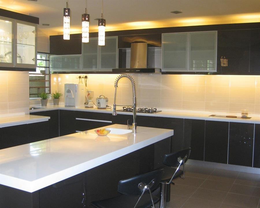 Custom made Kitchen Cabinet L Shape A [Dimension: 1500 X ...