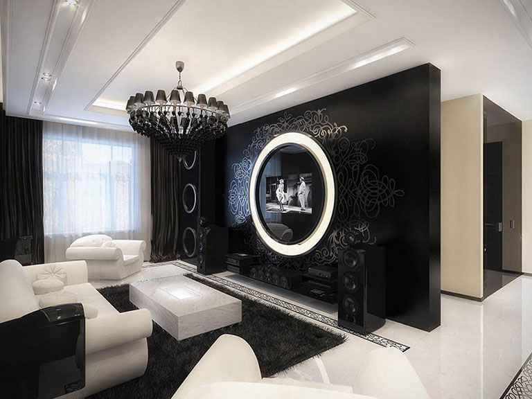 11 BW Living Room Designs