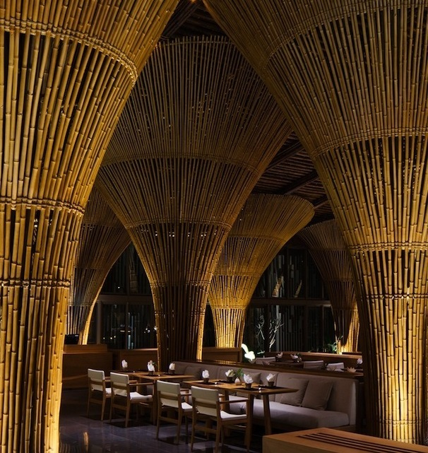Bamboo restaurant and bar building materials malaysia for Bamboo roofing materials